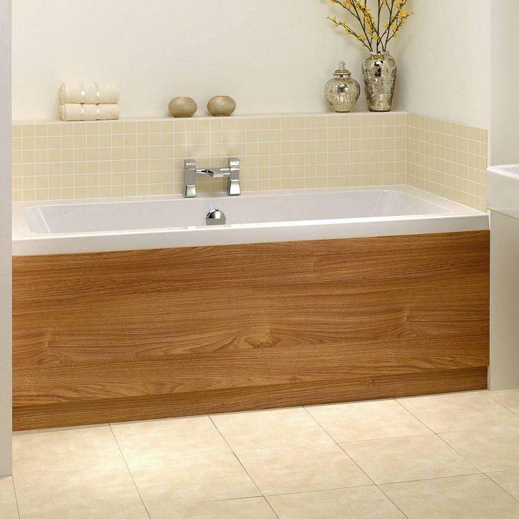 Oak Effect Bath Side Panel 1700 now only £59.99 from Victoria Plumb