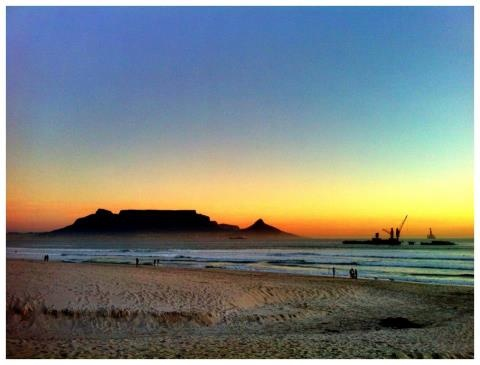 ......Table Mountain from Blouberg beach