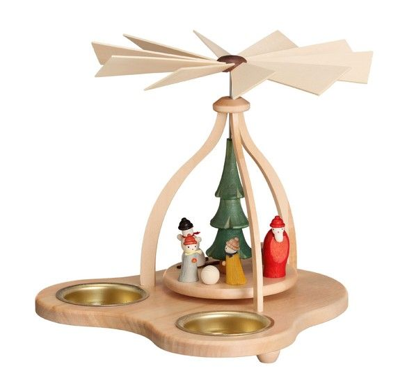 1-tier pyramid - Winter Children Tealights - 14cm / 5.5 inch $47.00 plus shipping