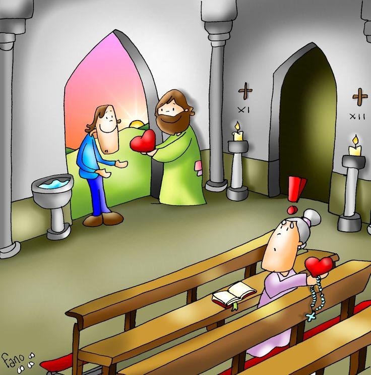El que lleva toda la vida y el recien llegado reciben de Jesús todo su amor.