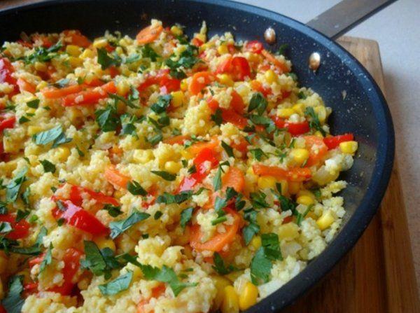 Kasza jaglana z warzywami z patelni...pysznie I zdrowo!!!