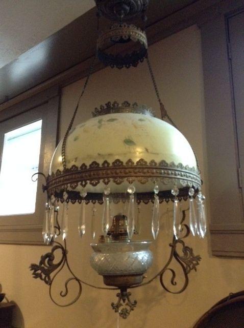 Circa 1900 library lamp, all original.