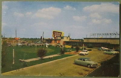 Jackson Motel and Restaurant Murfreesboro Tennessee TN 1957 Postcard Tenn AAA