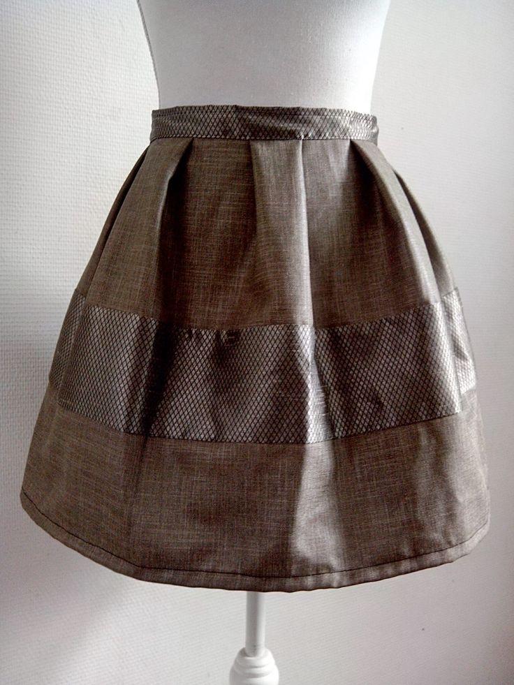 Designerskirt made of qualitative waste textile.