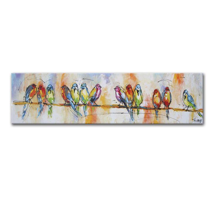 kleurrijke vogels schilderij