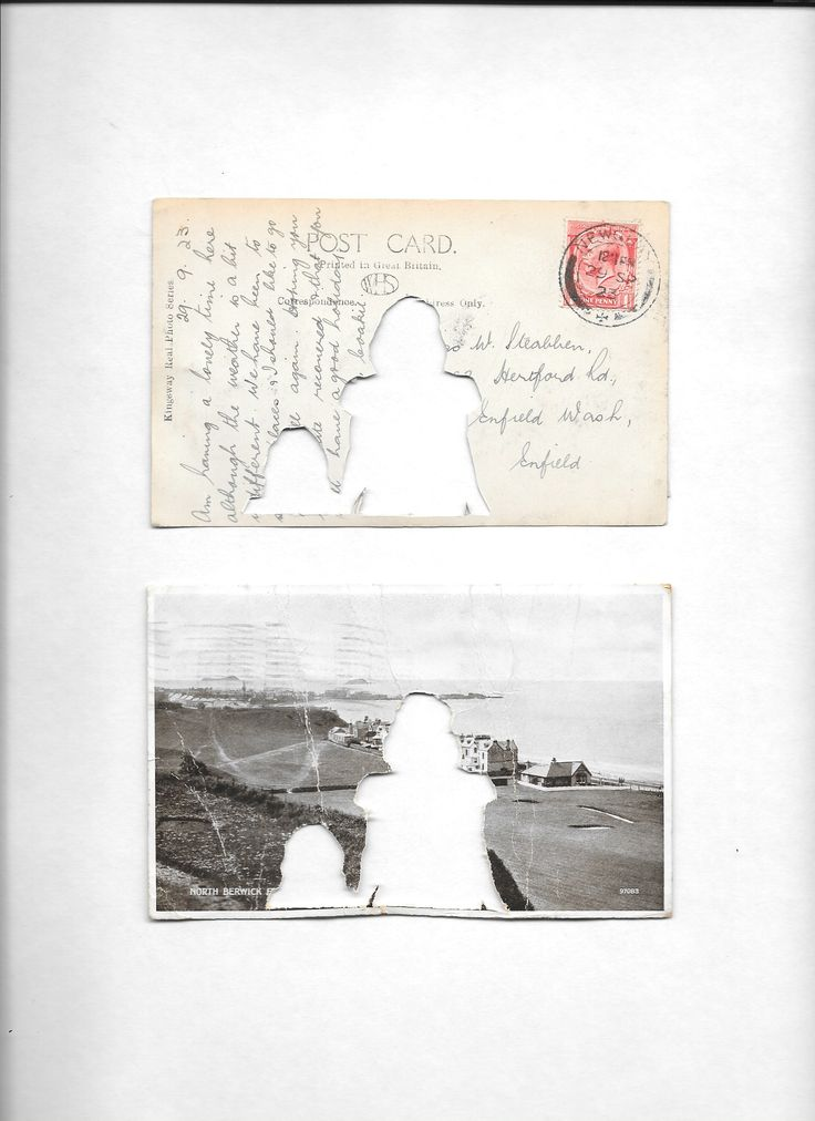 Wish You Were Here postcard manipulation