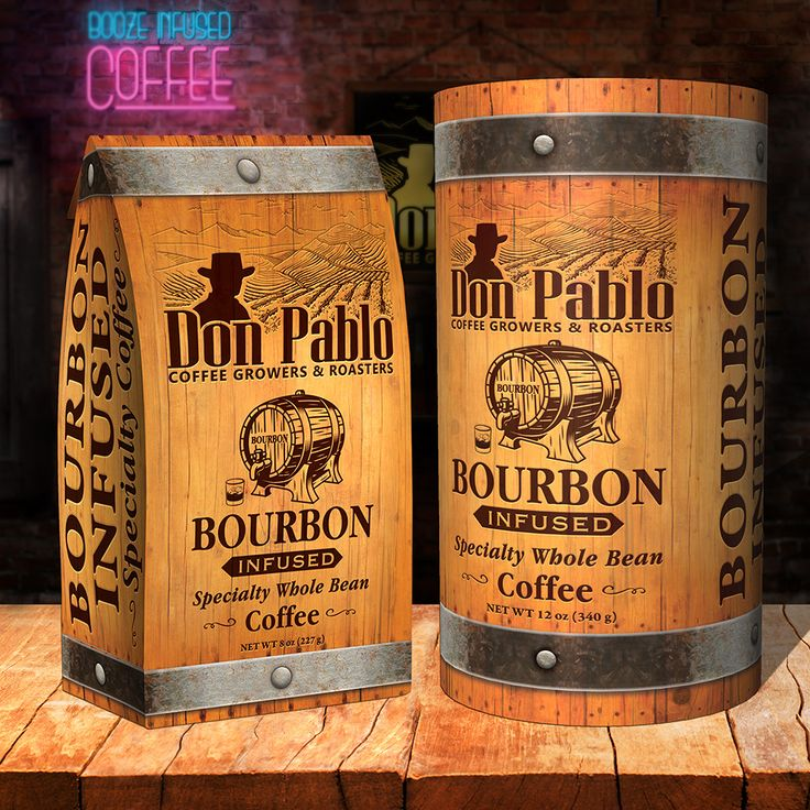 Don pablo bourbon infused coffee 12 oz infused