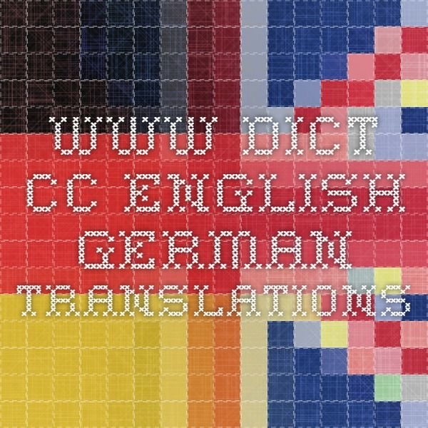Dictcc English German Translations