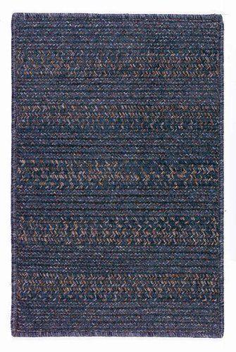 Rugstudio Presents Colonial Mills Elegance Lapis Blue Braided Area Rug