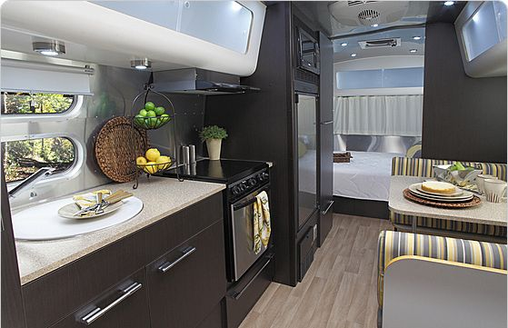 Airstream International 23FB, right layout but wrong colors.  I mean really this is a camper, do you really want light colors??? Really. . .
