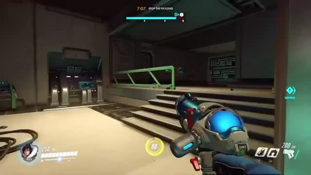 She couldn't take it anymore 😱 🙏 #Overwatch #glitch #fail #death #gaming #TVGM