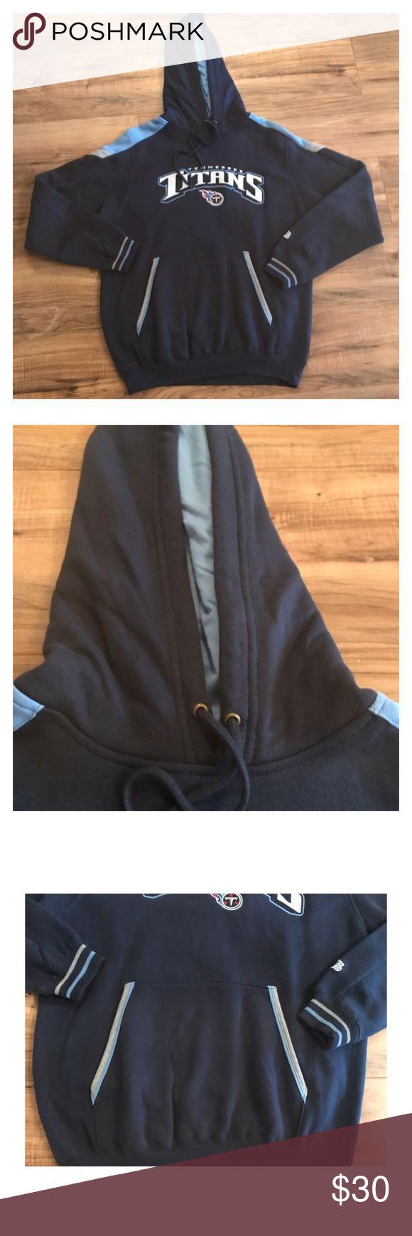NFL Tennessee Titans sweatshirt M NFL men's Tennessee Titans pull over hoodie size medium. Like new. NFL Shirts Sweatshirts & Hoodies