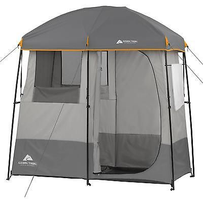 Non-Instant Shower Tent 2 Room Camping Hiking Cabin Bathroom Utility Shelter New