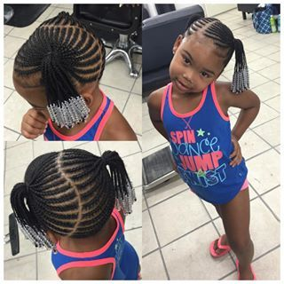 Braid Hairstyles For Kids braided mohawk for black girls Braids For Kids With Beads Google Search