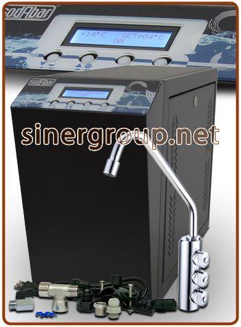 Sodabar refrigeratore sotto banco 3 vie acqua ambiente + fredda + frizzante fredda 25lt./h. raff. istantaneo
