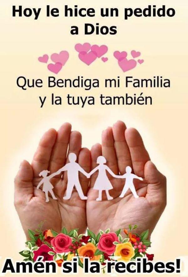 Familia Feliz Frases Bonitas Familia Hola Buenos Dias
