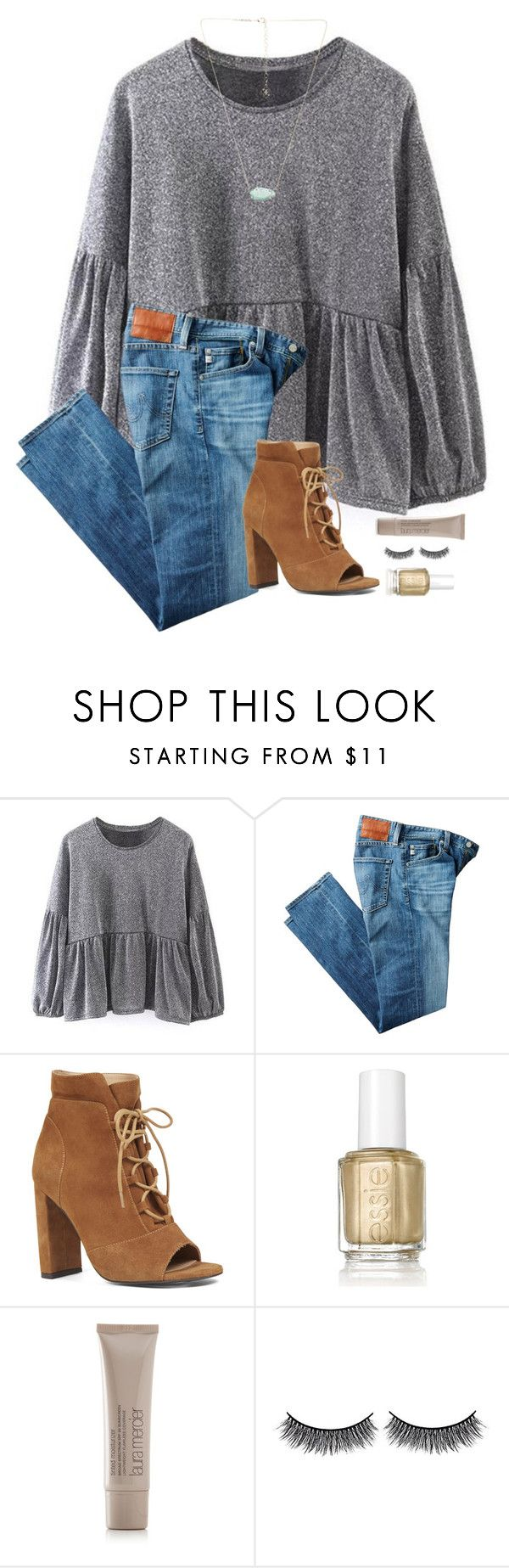 """i want some heels like this... thoughts?"" by blonde-prepster ❤ liked on Polyvore featuring AG Adriano Goldschmied, Nine West, Essie, Laura Mercier, Battington and Kendra Scott"
