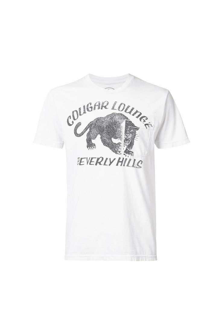 {Local Authority / 01 clothing / 04 knitwear / 01 t-shirt} Cougar Lounge Pocket T-Shirt