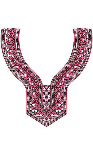 Bohemian Fashion Style   Neck Yoke Gala Embroidery Design