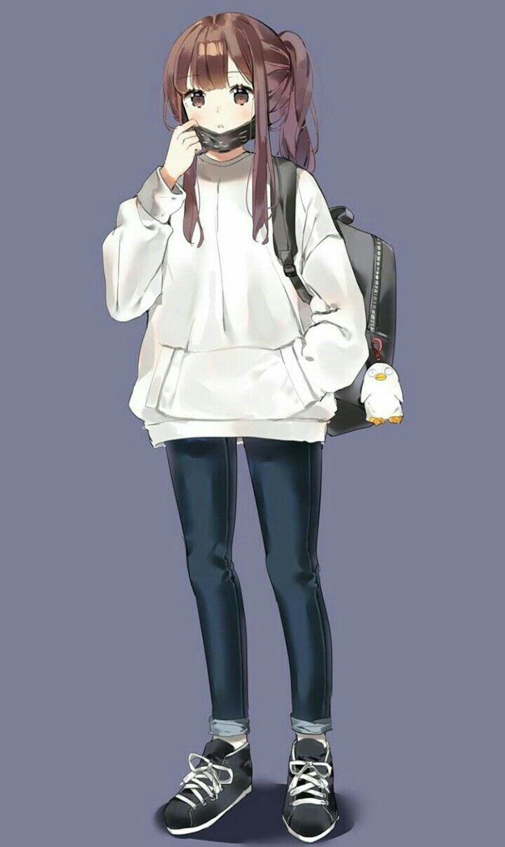 Картинки аниме милые и красивые в полный рост