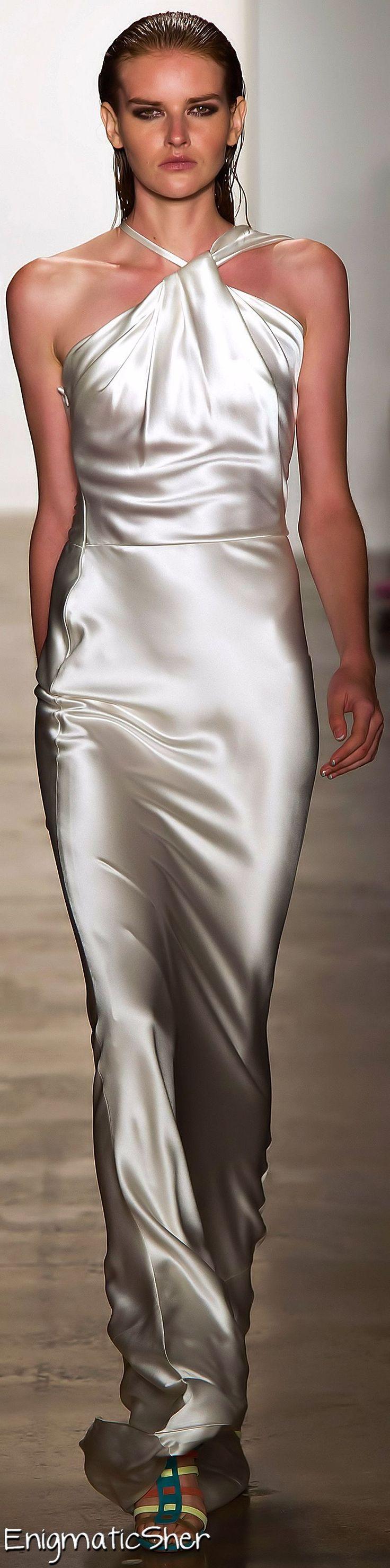 Sophie Theallet, Summer White Satin Halter Maxi Dress, 2015. For the shimmer.