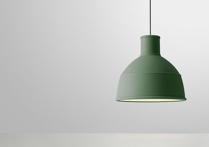Unfold pendant in soft silicone. Pendel, ceiling lamp, lofts lampe