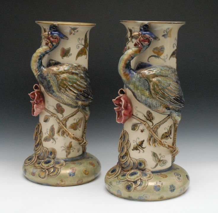 zsolnay vasen paar XXL  antik zsolnay galerie vienna