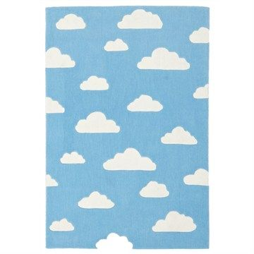 Dreamy Clouds Kid Rug in Blue - 165x115cm