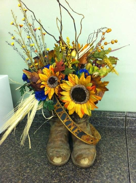 40 best creative funeral flowers images on pinterest floral cowboy floral tribute by the flower shop pryor ok solutioingenieria Image collections