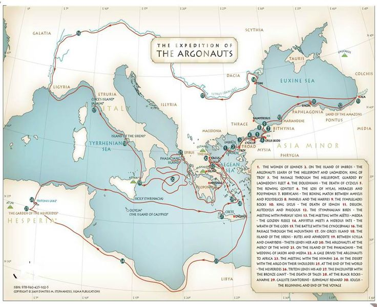 Jason and the Argonauts - Wikireedia . Great style, great subject , great map. Have to get one of Odessus to match