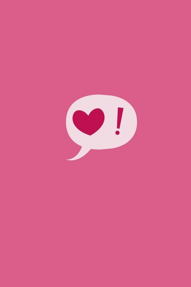 Heart love pink background