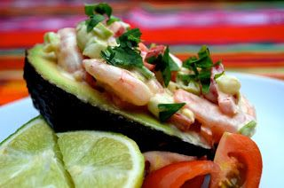 un mondo di ricette: ricette thailandesi - avocado con gamberetti