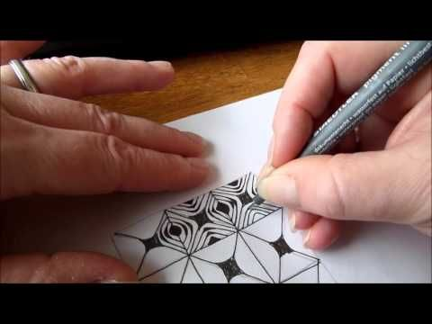 How to draw tanglepattern Zonked - YouTube