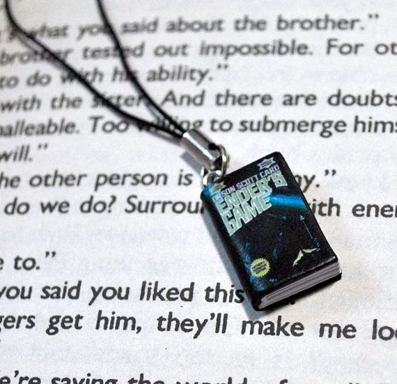 Ender's Game Book Charm by Bata668 on Etsy, $5.00