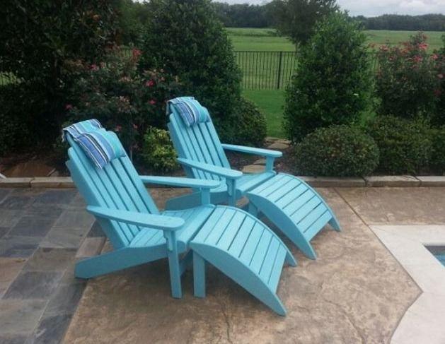 Breezestau0027s Shoreline Adirondack Chairs And Ottomans Enjoy Your Outdoor  Room   Yard Art Patio U0026 Fireplace