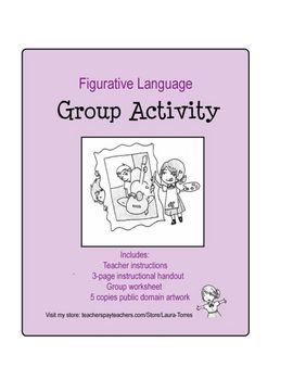 Teach your students about figurative language with artwork.Group Activities, Classroom Languages Art, Reading, Schools Ideas, Languages Group, Practice Figures, Schools Classroom, Teachers, Figures Languages