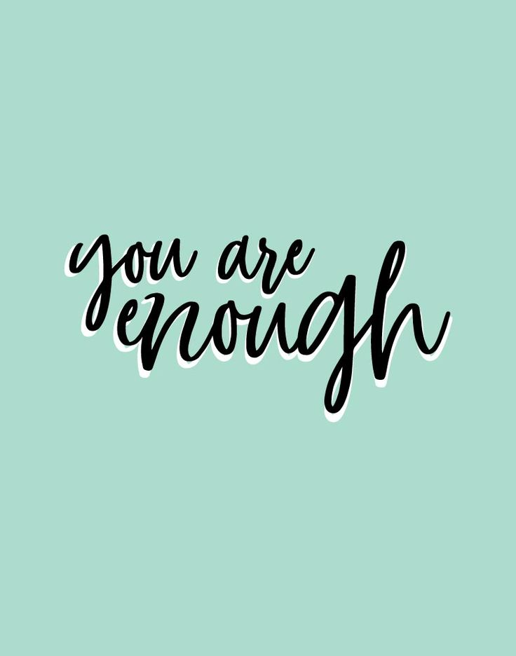 You Are Enough  We need to know this and believe it with all our hearts. It doesn't mean that you are flawless, or that you never make mistakes. However, it does mean that God made you to be you, just as you are, on purpose. You are His beautiful creation and he has a plan for your life.  -Typography theme -Different size options available -Frame not included -High resolution digital file option #youareenough