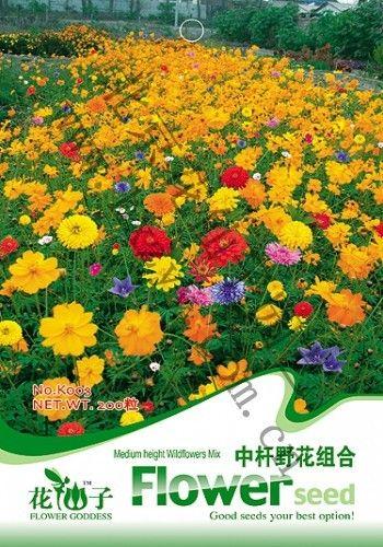 Flowers and seeds rod wild flowers combination of seeds bonsai the letoff 200 PCS / Bag four seasons  Bonsai  Decor