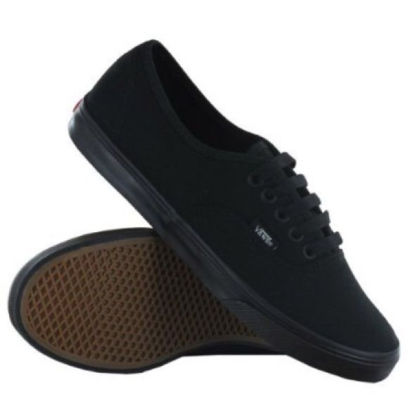 Vans Shoes | All Black Vans With Thin