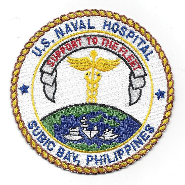 U.S. Naval Hospital Subic Bay P.I. patch - SUPPORT TO THE FLEET