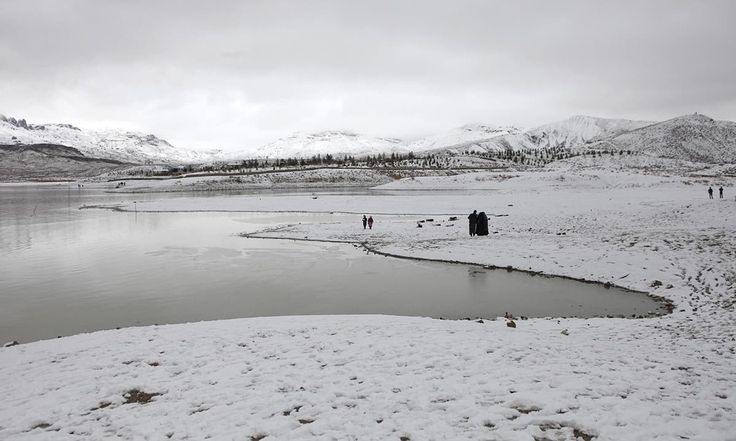 Hanna Lake after snow fall in quettaPakistan [1200  720]