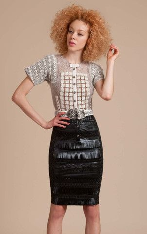 Byron Lars Vegan Leather and Knit Dress | Silk&Burlap