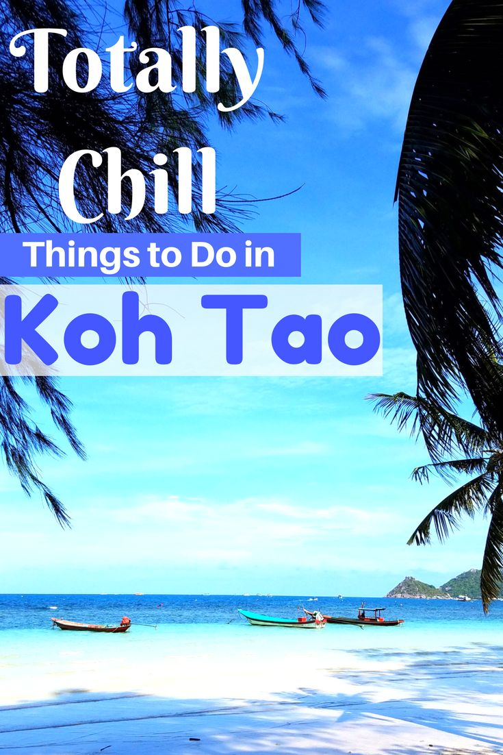 Totally Chill Things to Do on Koh Tao, Thailand. A guide to what to see and do on one of the best islands in Thailand! A relaxing getaway destination.