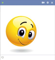Shyly smiley for Facebook