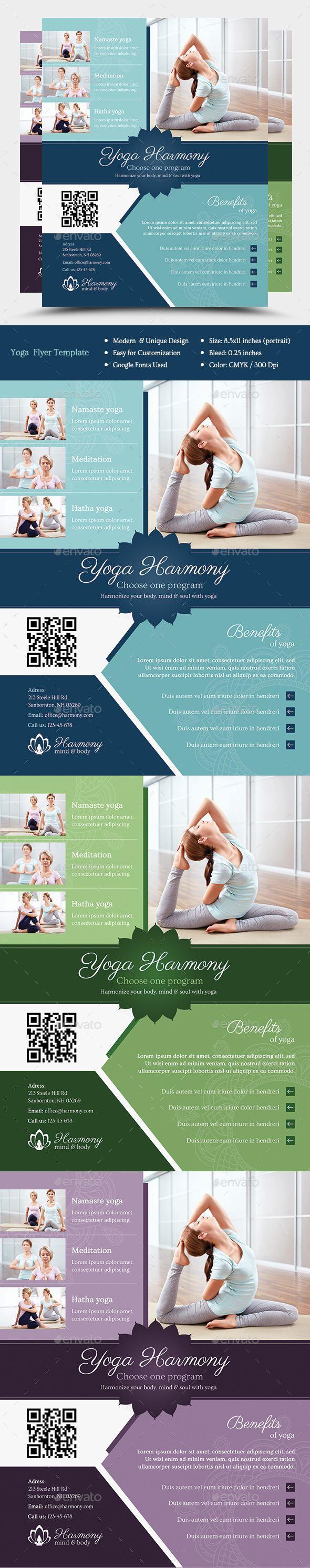 Harmony Yoga Flyer Template