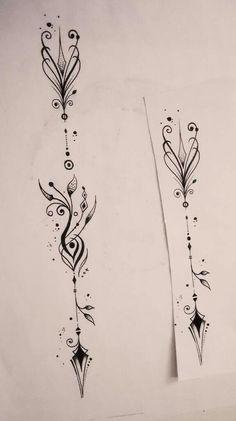 Flèche par : Le Hérisson tatoo  Besançon.  France #arrow_compass_tattoo