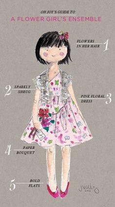 Όλα όσα χρειάζεται ένα παρανυφάκι! Λουλούδια για τα μαλλιά, ζακετάκι με στρας, ροζ φλοράλ φόρεμα, μπουκέτο λουλουδιών και μπαλαρίνες σε έντονο χρώμα!