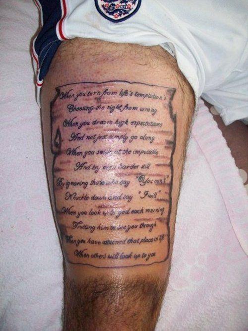 Poem Tattoo Ideas For The Arm | Angel Tattoo Poems | Poem ...
