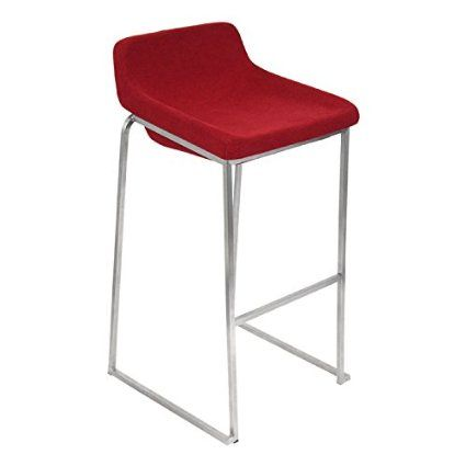 Lumisource Drop Bar Stool in Red