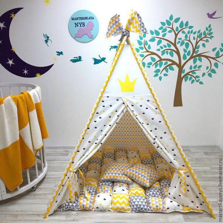 """Купить Ярко желтый """"Королевский вигвам"""" - желтый, вигвам, вигвам палатка, вигвам домик"""